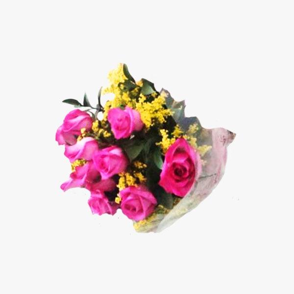 Bouquet de rosas rosadas