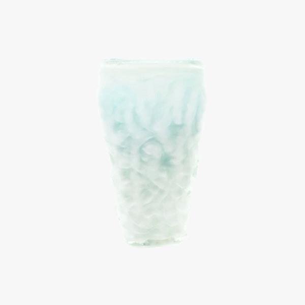 Florero Blanco Cristal